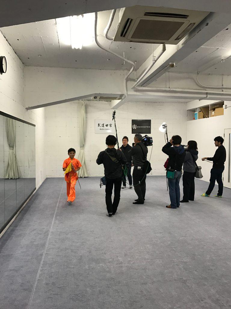 名古屋テレビの取材